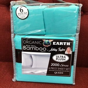 Bamboo Sheets 6 piece set Queen Turquoise